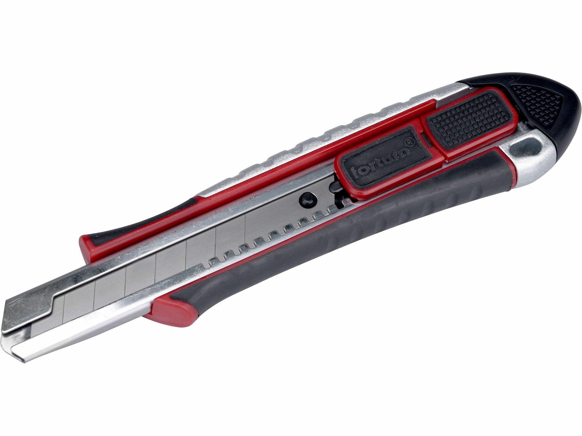 Nůž ulamovací s výztuhou, 18mm, FORTUM