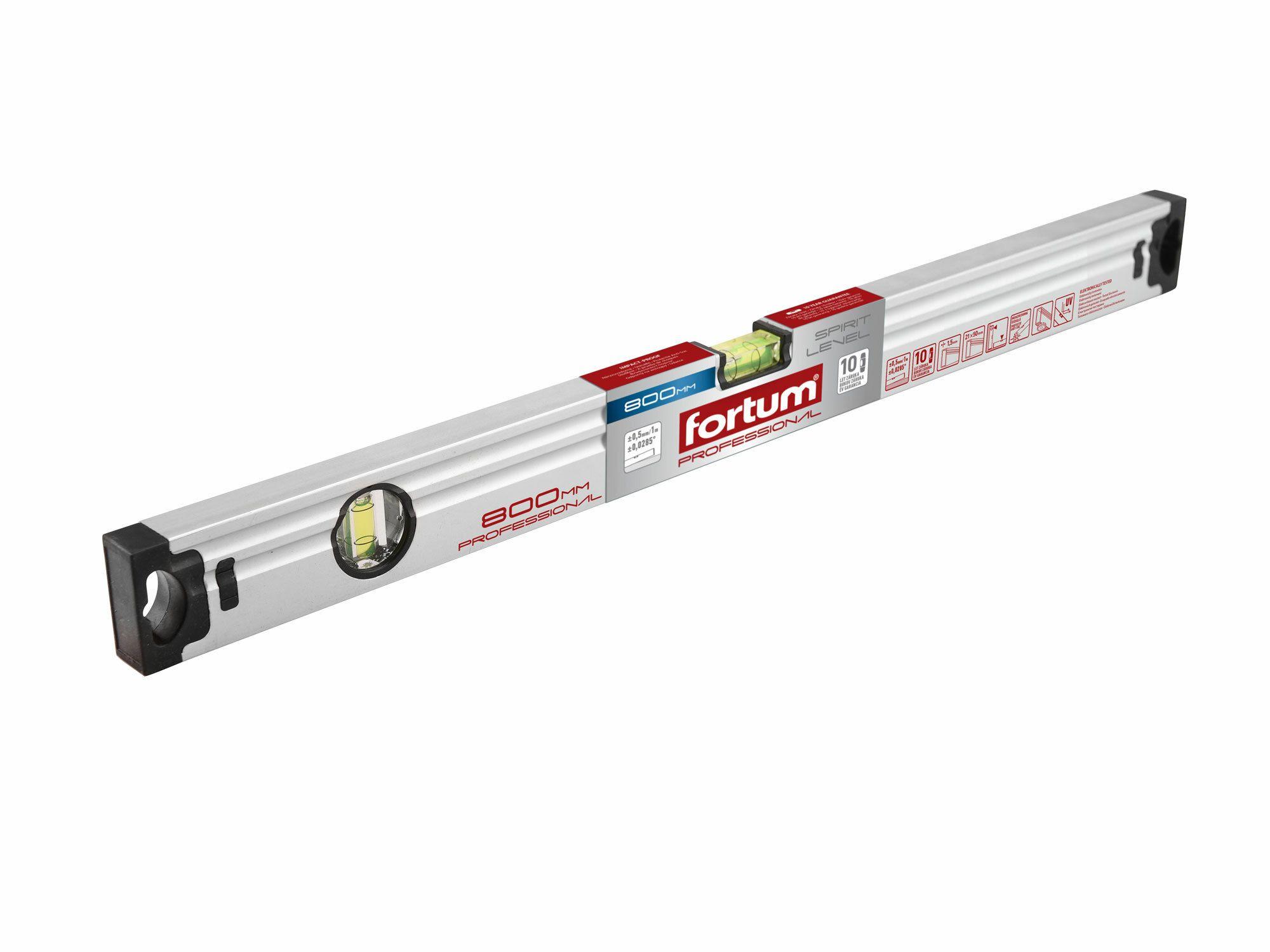 Vodováha, 1000mm, přesnost 0,5mm/1m, FORTUM