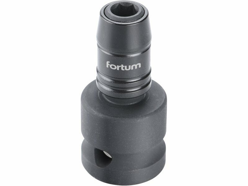 """Rázový adaptér 1/2""""čtyřhran na hroty 1/4"""", CrMoV, FORTUM 4790002"""