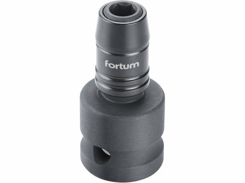 """Rázový adaptér 1/2""""čtyřhran na hroty 1/4"""", CrMoV FORTUM"""