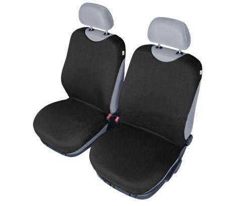Autopotahy Tričko BAVLA na přední sedadla - černé
