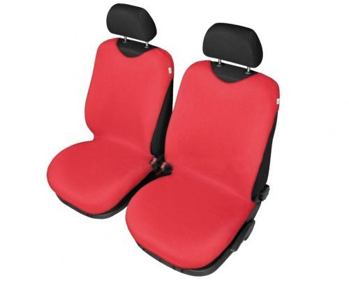 Autopotahy Tričko BAVLA na přední sedadla - červené