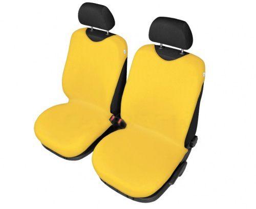 Autopotahy Tričko BAVLA na přední sedadla - žluté