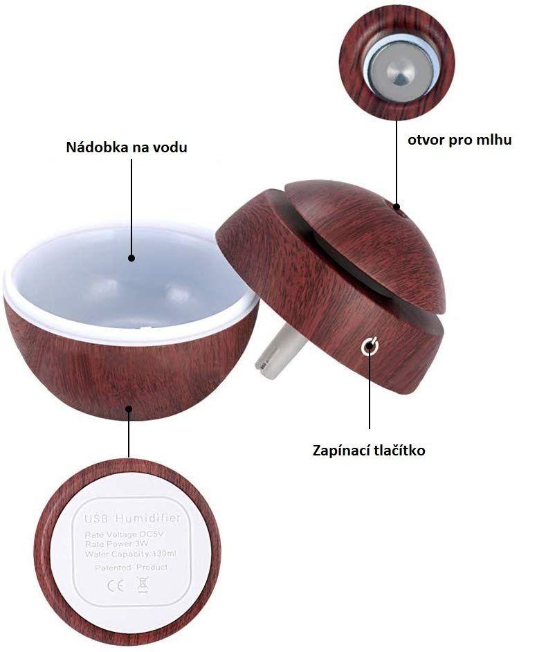 Difuzer Ball tmavé dřevo SIXTOL