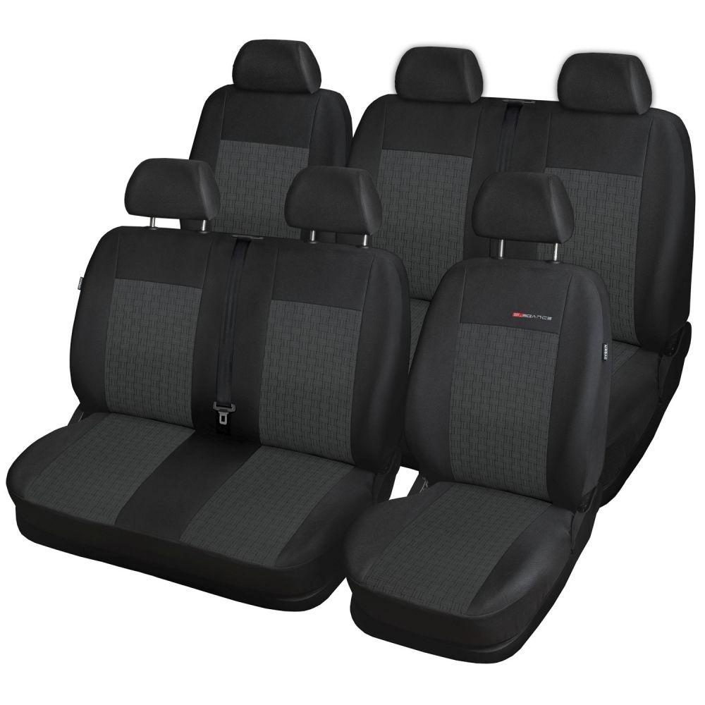 Autopotahy Volkswagen T5, 6 míst, 1+2,2+1 od r. 2003 - 2015, antracit SIXTOL