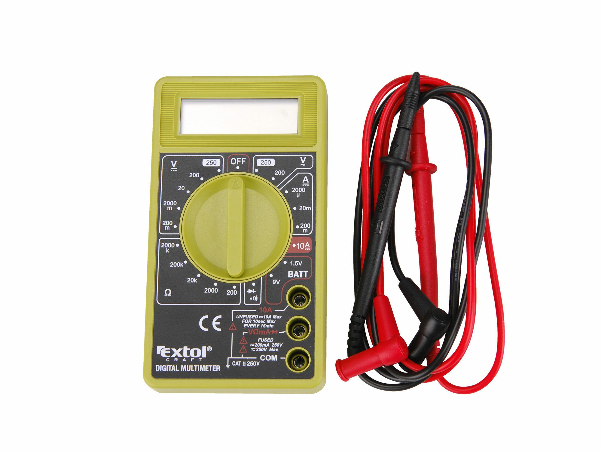 Multimetr digitální (U, I, R), s akustickou signalizací EXTOL-CRAFT