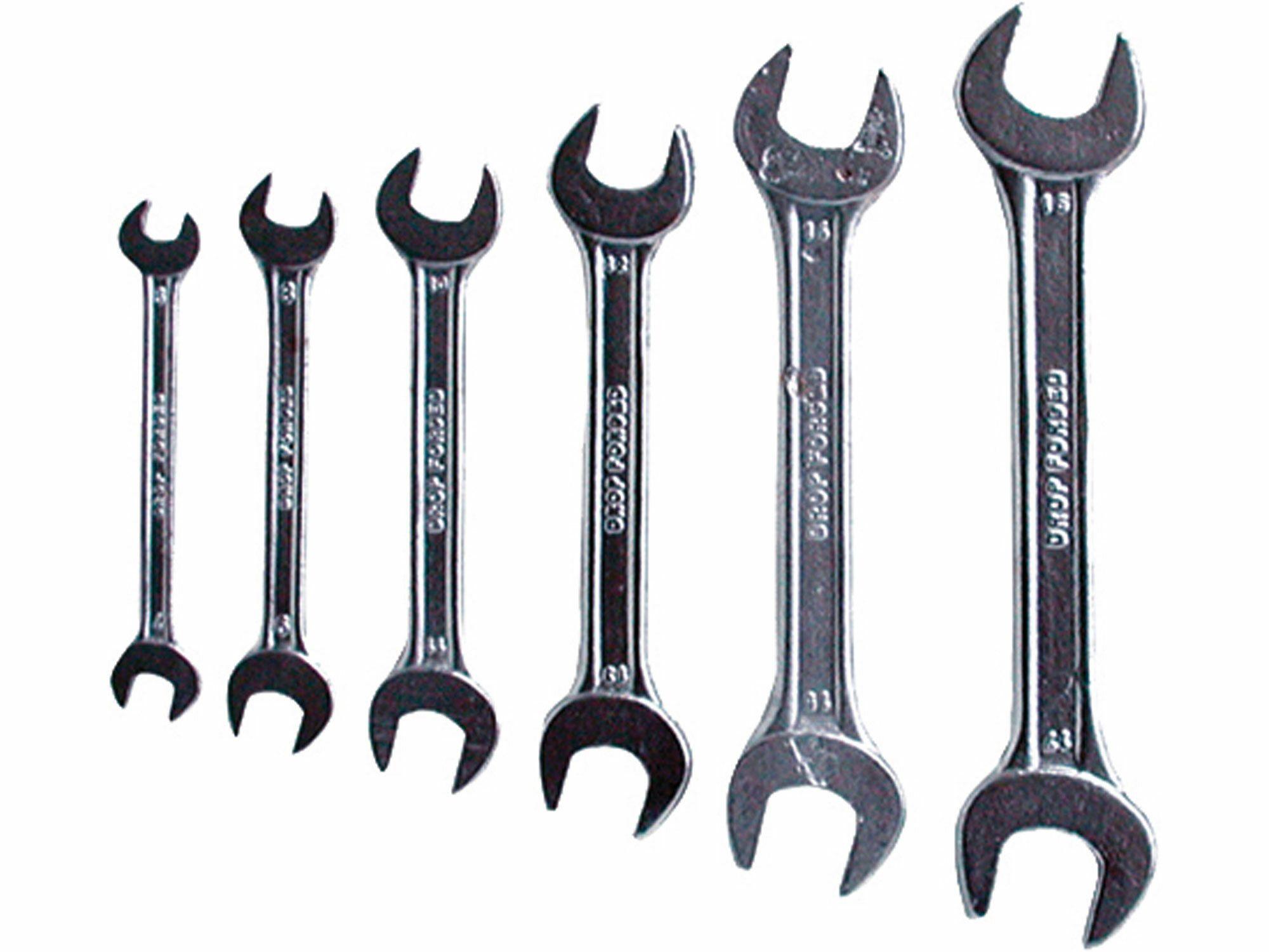 Klíče ploché, sada 6ks, 6x7, 8x9, 10x11, 12x13, 14x15, 16x17mm, W.S., EXTOL CRAFT