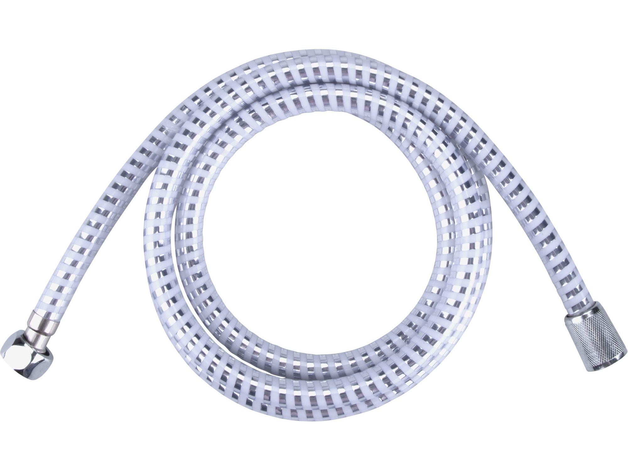 Hadice sprchová, stříbrný pruh, 180cm, PVC VIKING