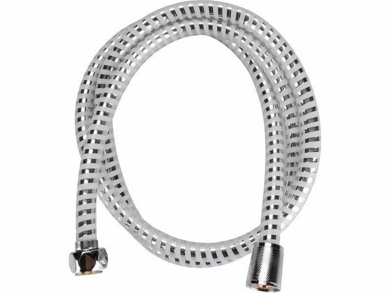 Hadice sprchová, černo/stříbrná  PVC, 150cm, ,, PVC VIKING