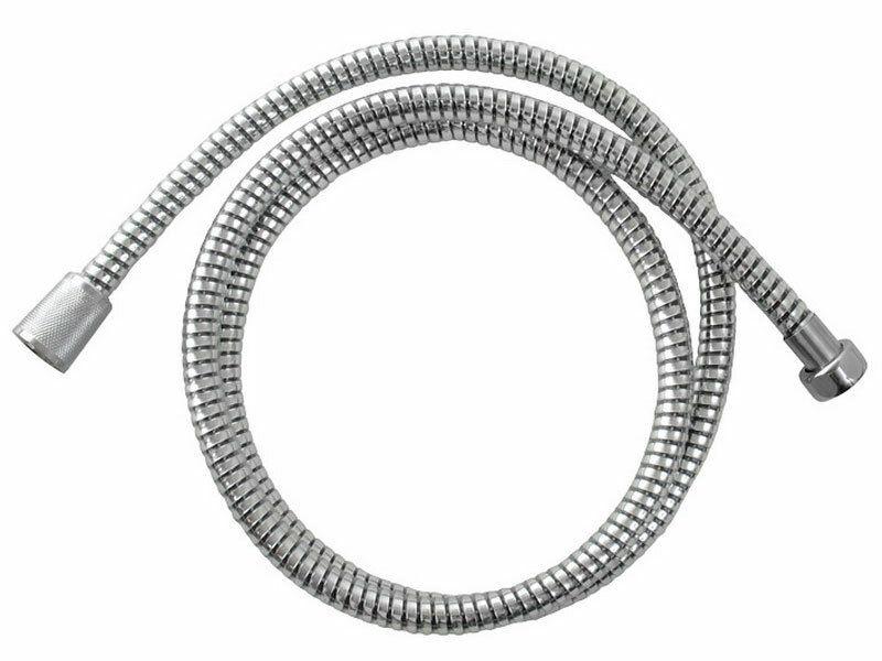 Hadice sprchová, černo/stříbrná  PVC, 150cm, rotační, PVC VIKING