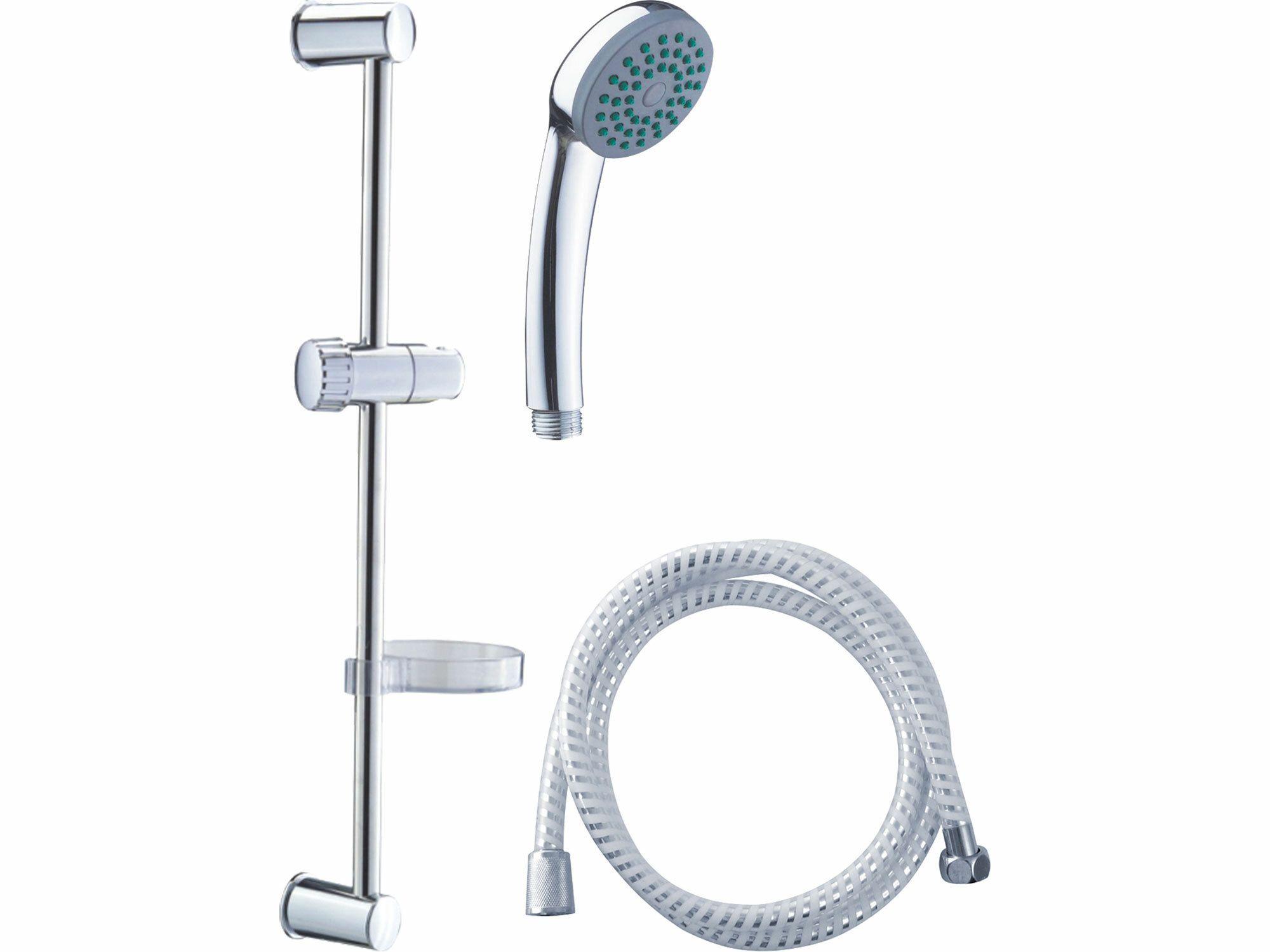 Sada sprchová velká, 3funkční hlavice, držák na sp., hadice, držák na mýdlo, tyč, VIKING