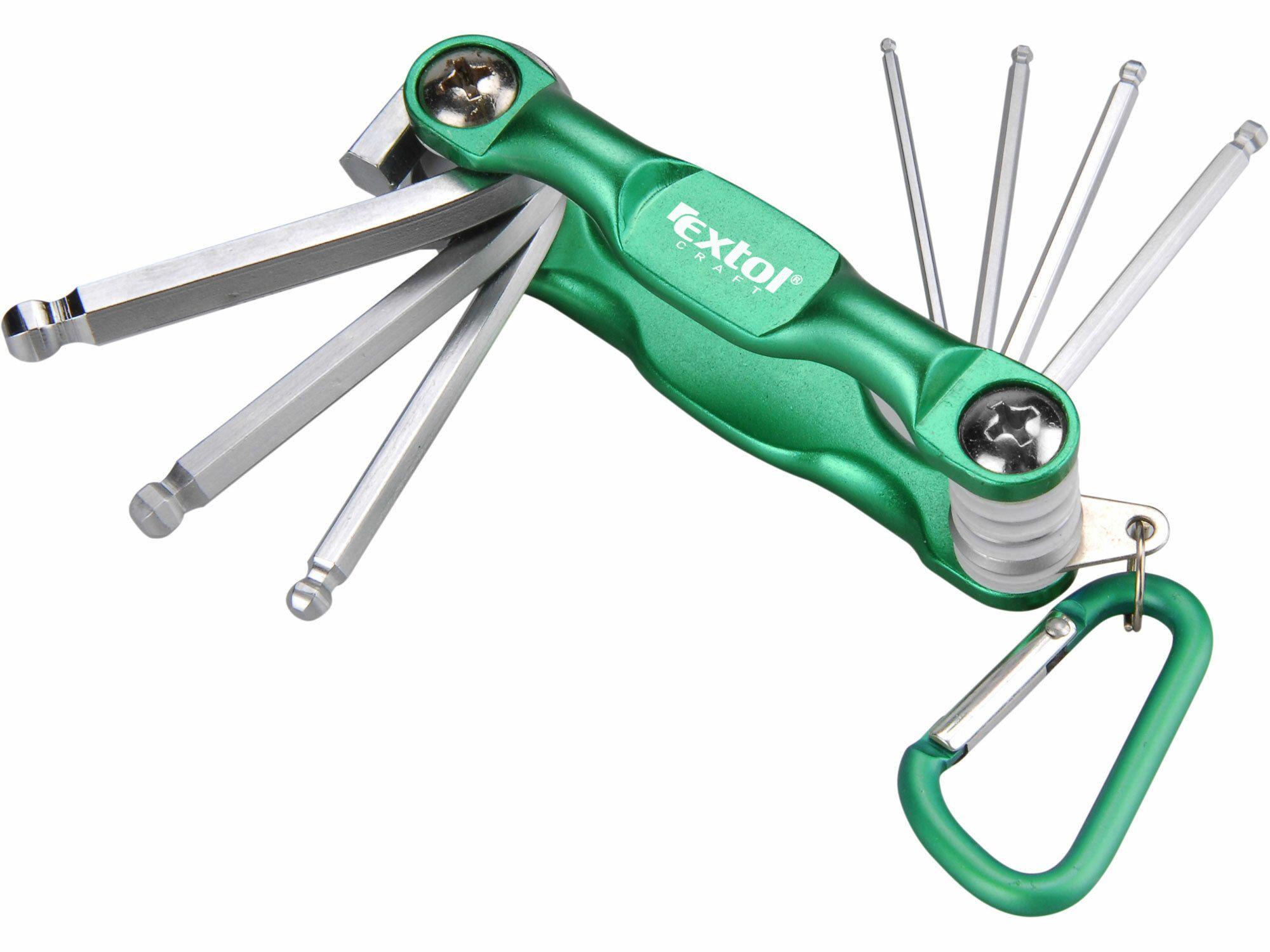 Klíče imbus, 7ks, 1,5-2-2,5-3-4-5-6mm, mix barev,praktický skládací obal, EXTOL CRAFT
