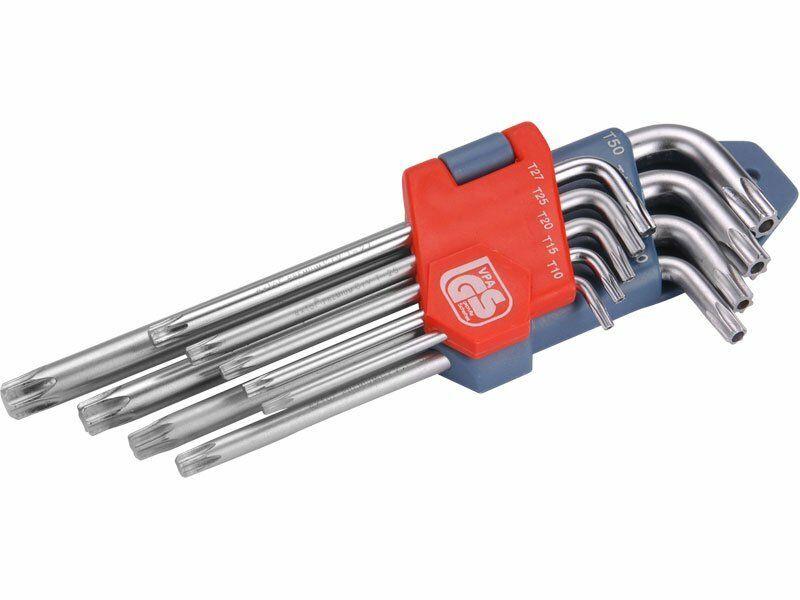 L-klíče TORX, sada 9ks, T 10-15-20-25-27-30-40-45-50, EXTOL PREMIUM
