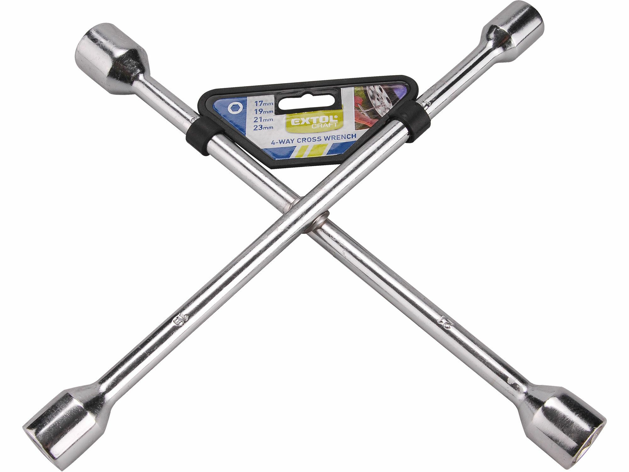 Klíč křížový na kola, 17-19-21-23mm, EXTOL CRAFT 6650
