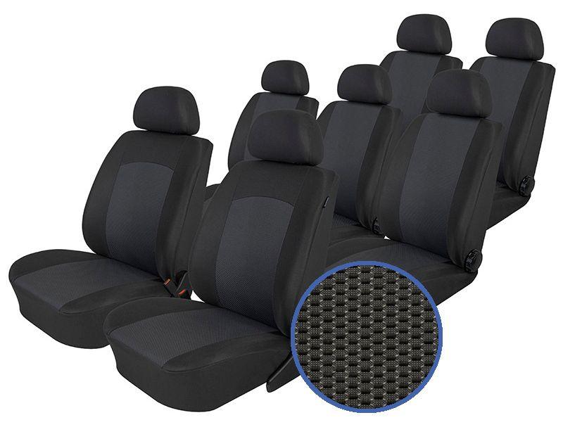 Autopotahy Seat Alhambra, od r. 1994-2010, 7 míst, Dynamic grafit SIXTOL