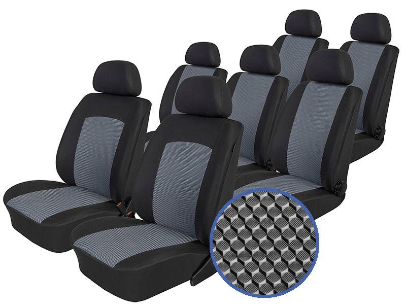 Autopotahy Seat Alhambra, od r. 1994-2010, 7 míst, Dynamic šedé SIXTOL