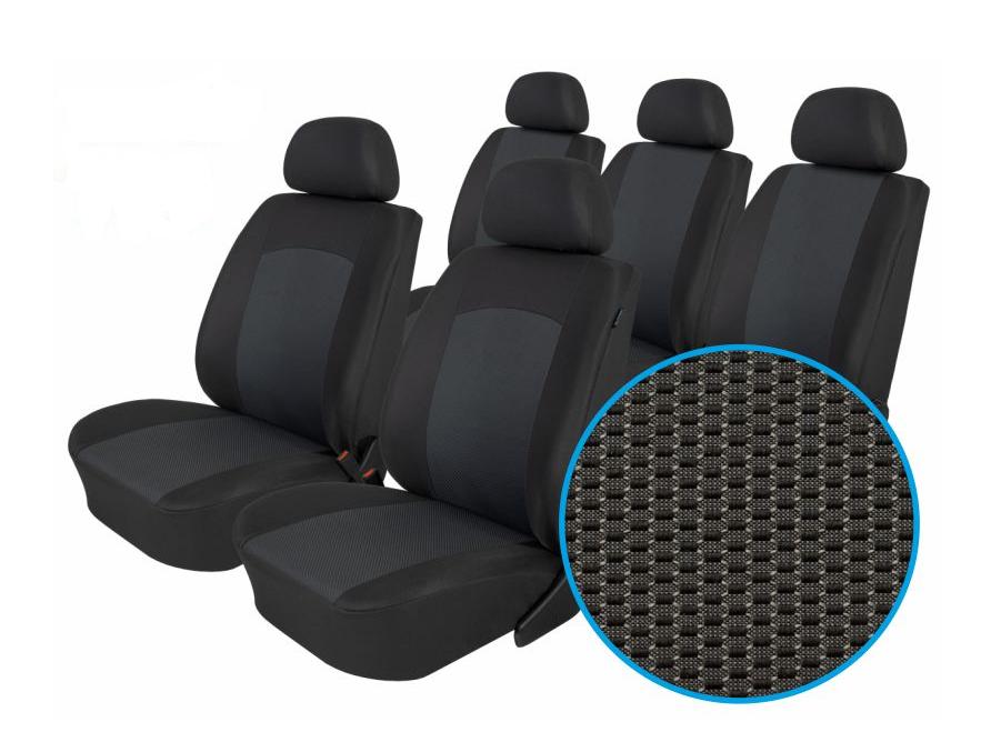 Autopotahy Seat Alhambra, od r. 1994-2010, 5 míst, Dynamic grafit SIXTOL