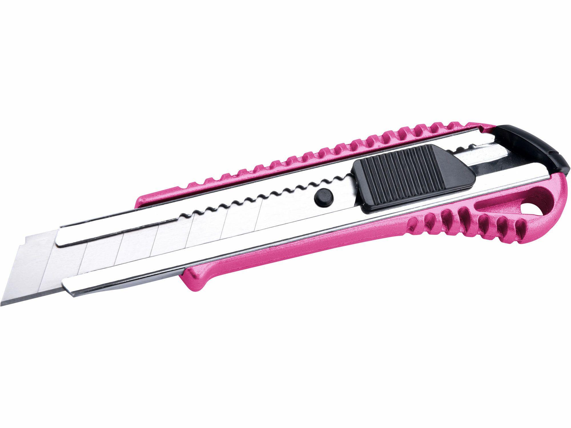 Nůž ulamovací kovový s kovovou výztuhou, 18mm EXTOL-LADY