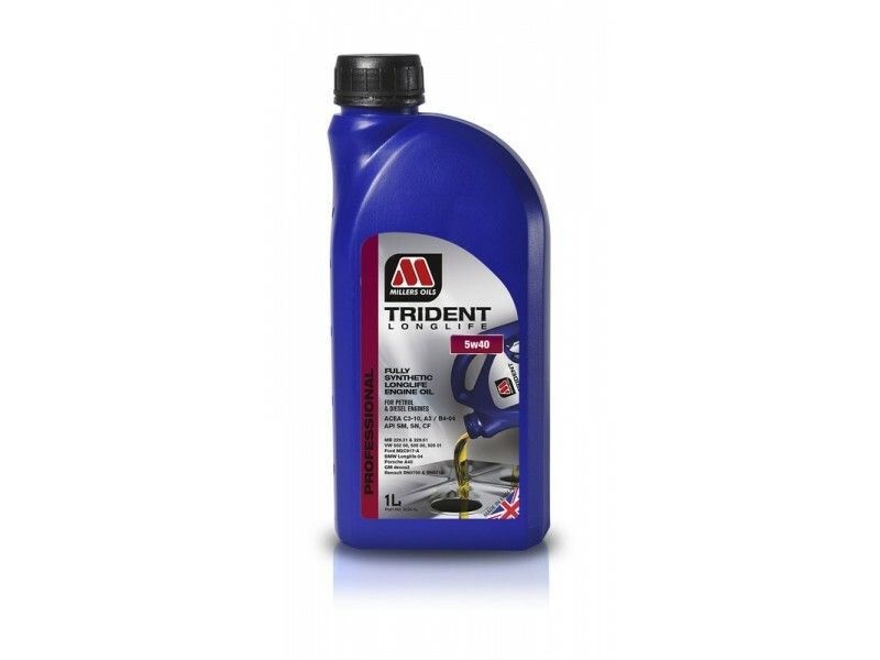 Millers Trident Longlife 5w40 1l MILLER OILS