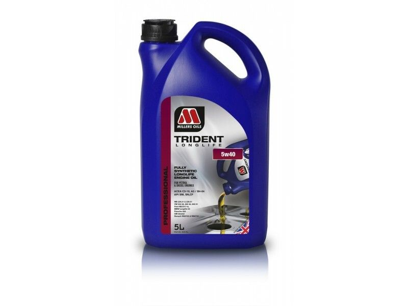 Millers Trident Longlife 5w40 5l MILLER OILS