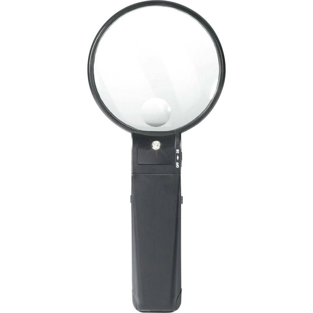 Lupa s osvětlením a stojánkem 821010, 88 mm, 2x/4x TOOLCRAFT