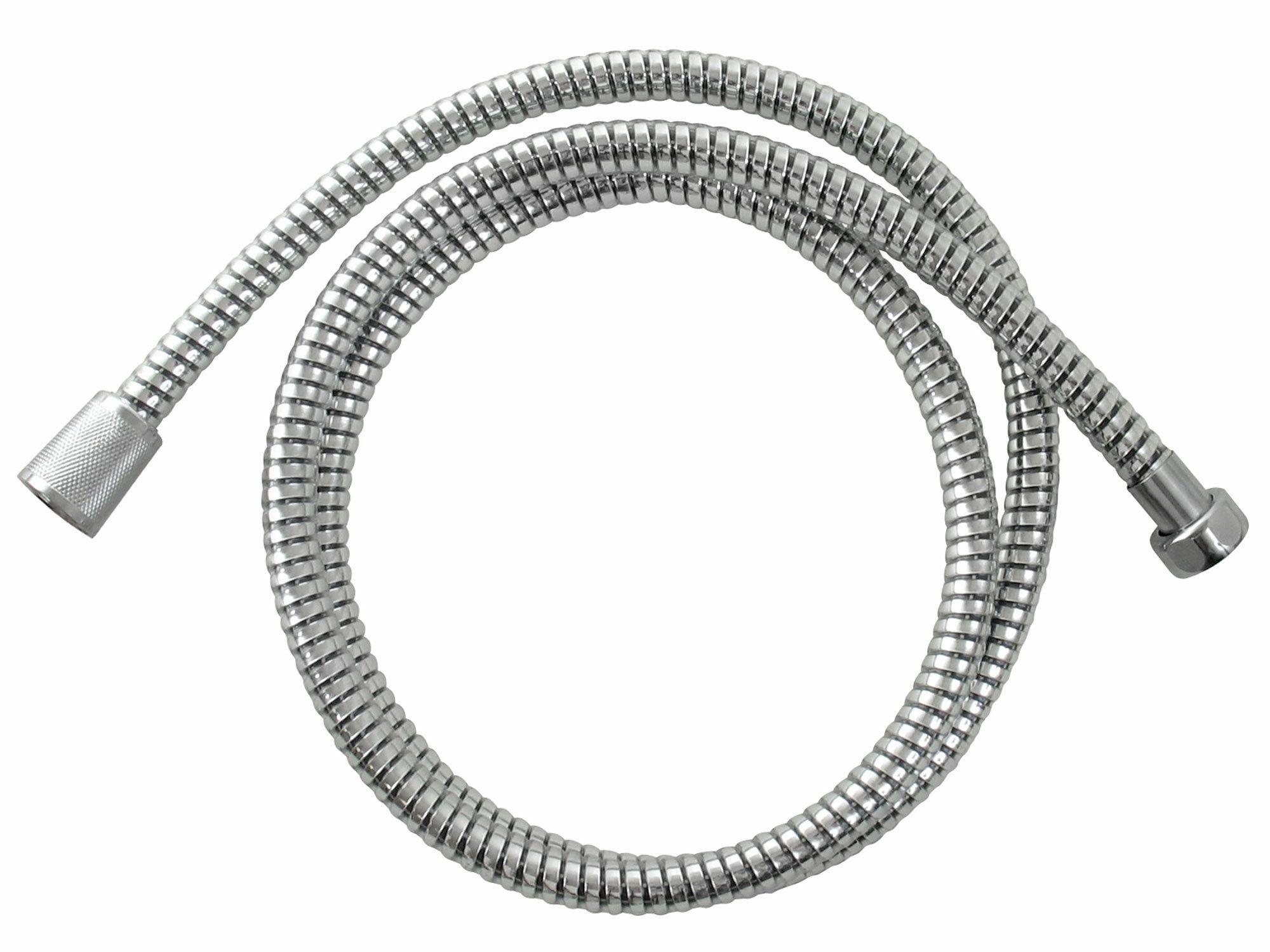 Hadice sprchová, stříbrná, 150cm, PVC, BALLETTO
