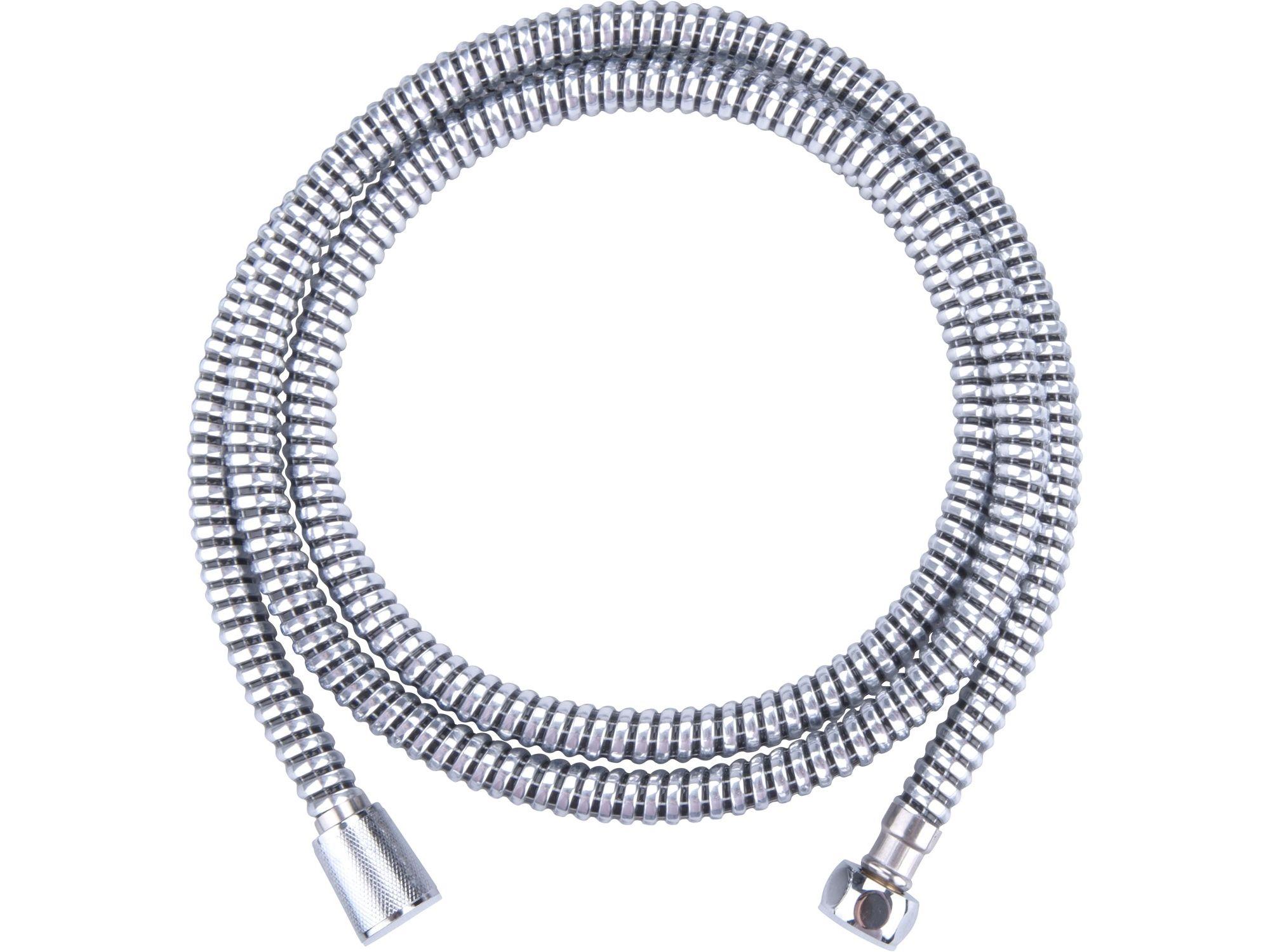 Hadice sprchová, černo/stříbrná, 180cm, PVC FRESHHH