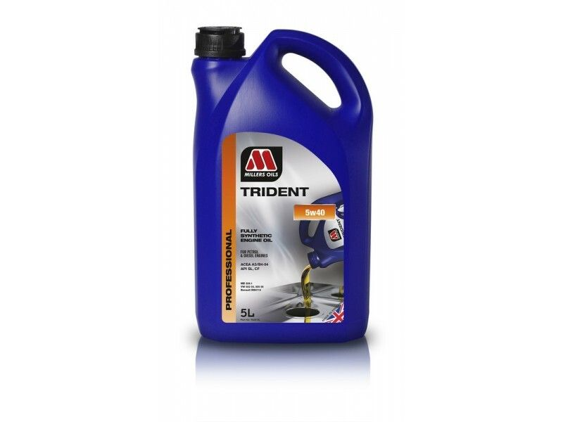 Millers Trident 5w40 5l MILLER OILS