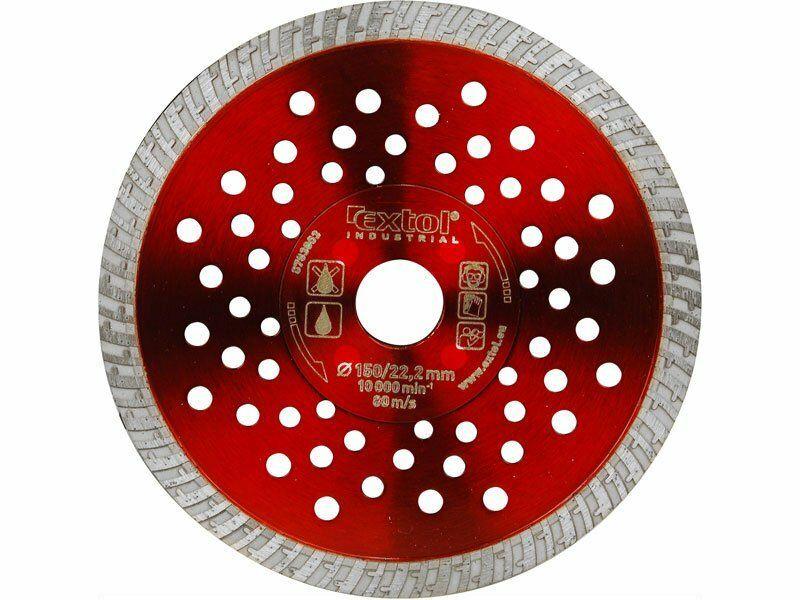 Kotouč diamantový řezný turbo Fast Cut, 180x22.2mm, EXTOL INDUSTRIAL
