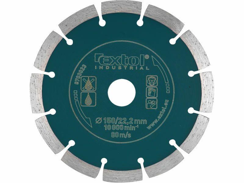 Kotouč diamantový řezný segmentový Grab Cut, 115x22,2mm, suché řezání EXTOL-INDUSTRIAL