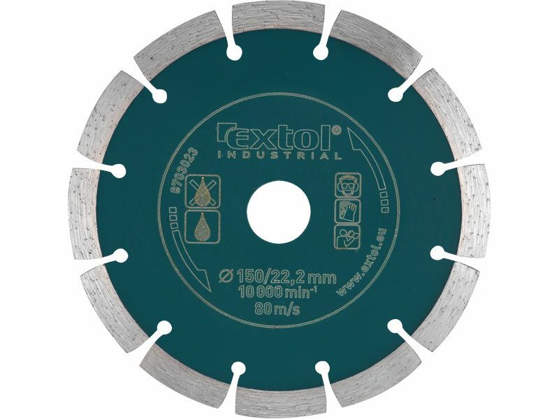 Kotouč diamantový řezný segmentový Grab Cut, 230x22,2mm, suché řezání EXTOL-INDUSTRIAL