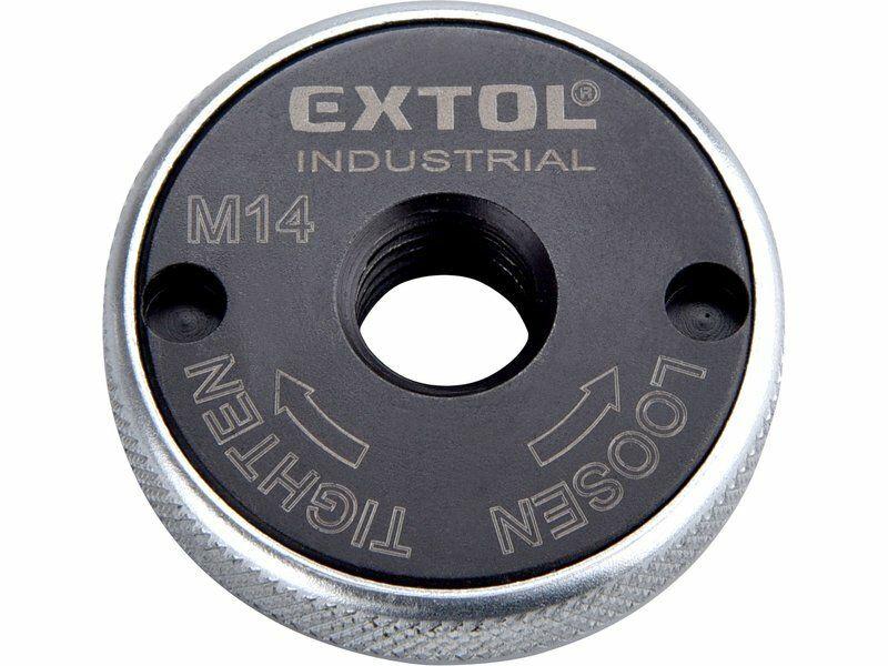 Matice rychloupínací pro úhlové brusky, click-nut, M14 EXTOL-INDUSTRIAL