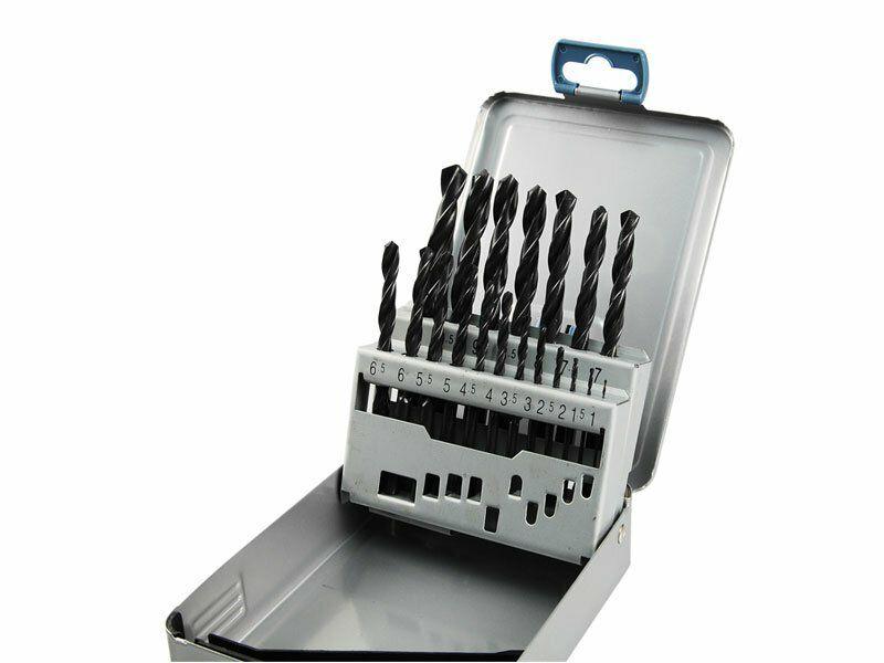 Vrtáky do kovu v kovové krabičce, sada 19ks, Ř1-10mm, po 0,5mm, EXTOL PREMIUM