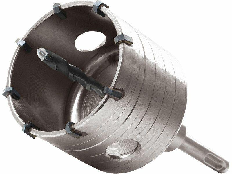 Vrták SDS PLUS do zdi korunkový, O 100mm, délka stopky 100mm, EXTOL PREMIUM
