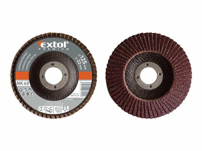 Kotouč lamelový šikmý korundový, P60, 115mm, KORUND, EXTOL PREMIUM EXTOL-PREMIUM