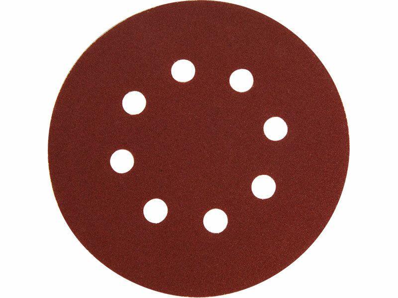 Papír brusný výsek, suchý zip, bal. 10ks, 125mm, P80, 8 otvorů EXTOL-PREMIUM