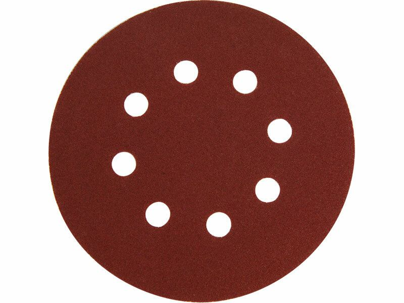 Papír brusný výsek, suchý zip, bal. 10ks, 125mm, P150, 8 otvorů EXTOL-PREMIUM