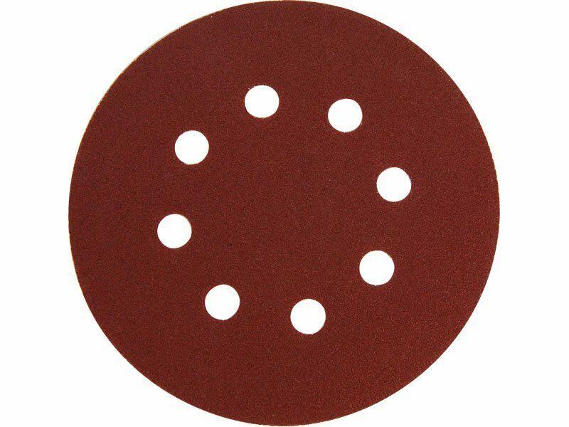 Papír brusný výsek, suchý zip, bal. 10ks, 8 otvorů, pr.125mm, P240 EXTOL-PREMIUM