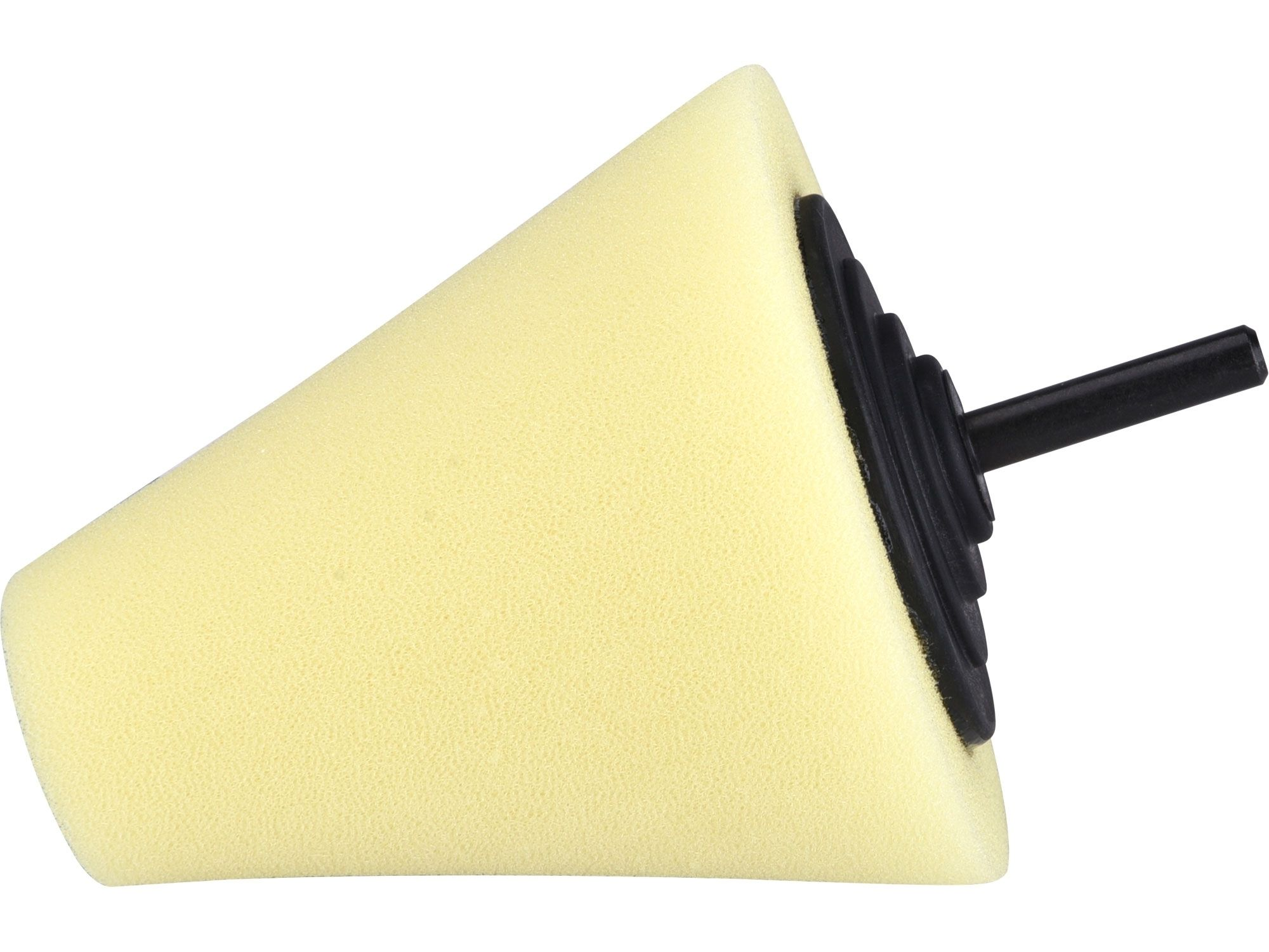 Kužel leštící pěnový, T80, žlutý, ?80mm, stopka 6mm EXTOL PREMIUM