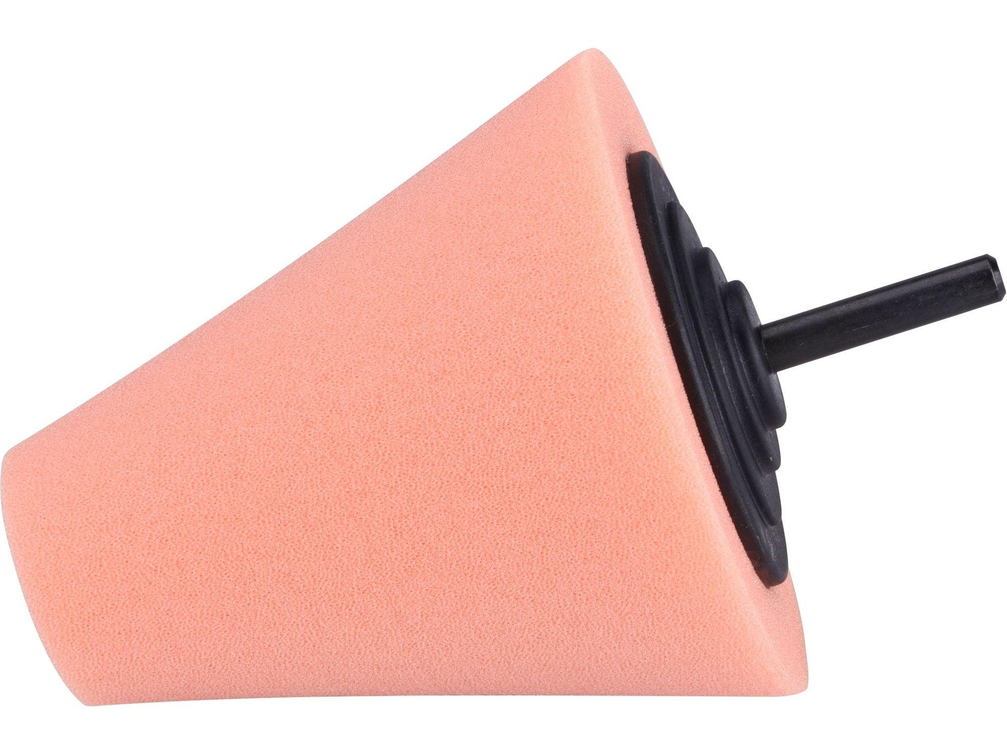 Kužel leštící pěnový, T40, oranžový, d=80mm, stopka 6mm EXTOL PREMIUM