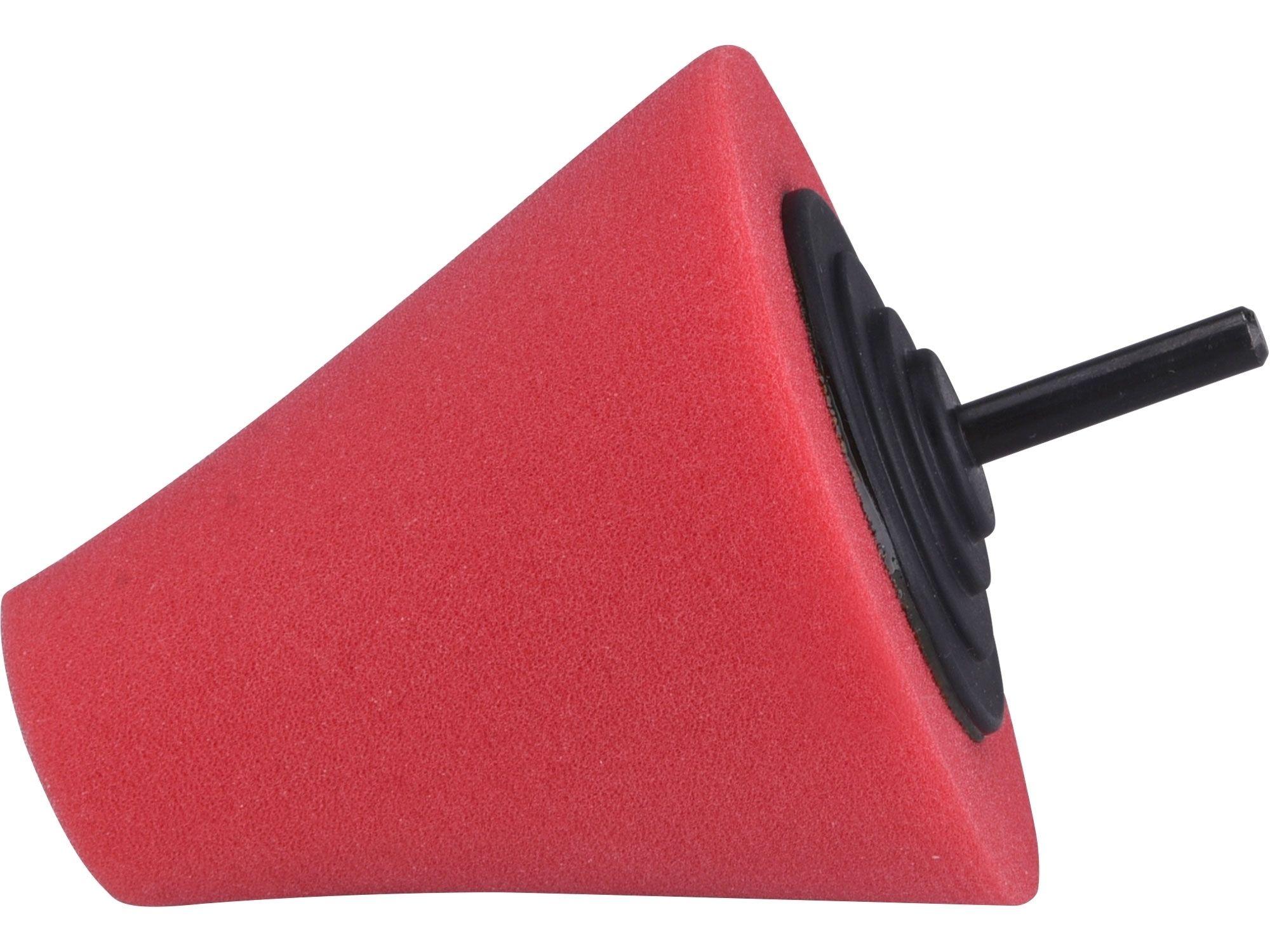 Kužel leštící pěnový, T10, červený, d=80mm, stopka 6mm EXTOL PREMIUM