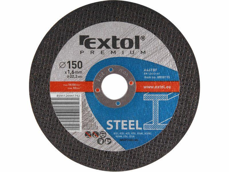 Kotouč řezný na ocel, 150x1,6x22,2mm EXTOL-PREMIUM