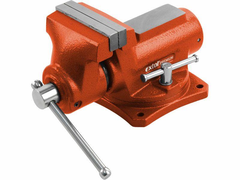 Svěrák otočný s kovadlinou, 100mm, 6,4kg, rozevření 70mm, EXTOL PREMIUM 8812602