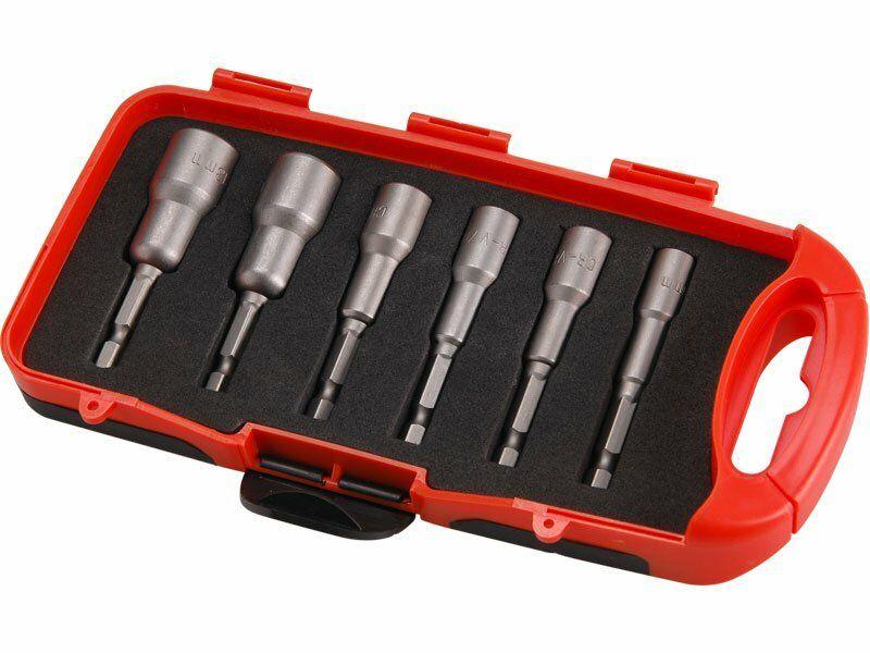 Klíče nástrčné do vrtačky, sada 6ks, 6-13mm, délka 65mm, CrV EXTOL-PREMIUM