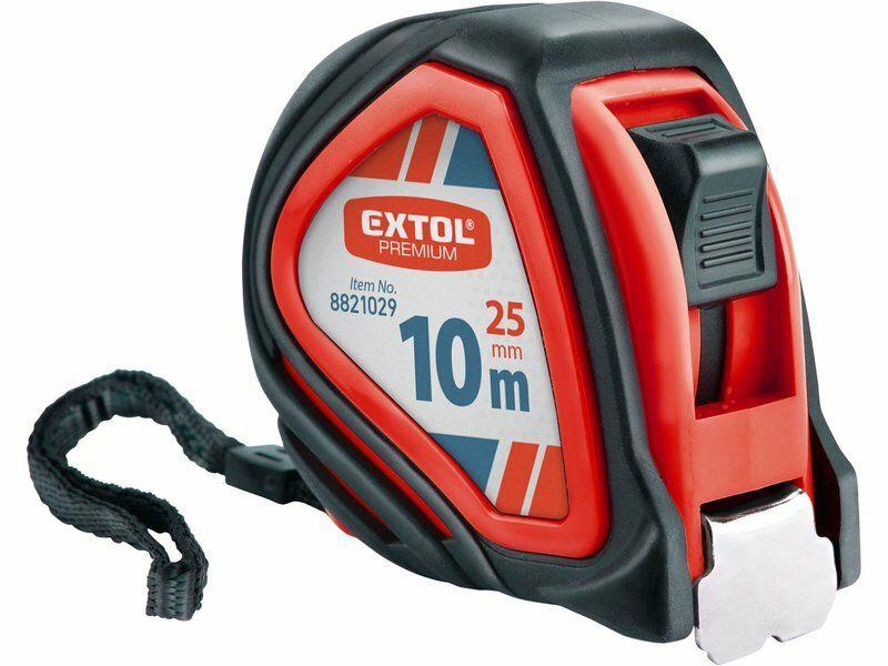 Metr svinovací, 10m, š. pásku 25mm EXTOL-PREMIUM
