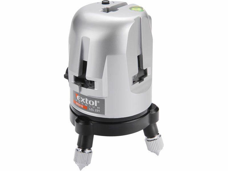 Laser liniový, křížový samonivelační, přesnost: 0,5mm/1m (bod 0,6mm/m) EXTOL PREMIUM