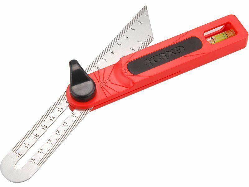 Pokosník nastavitelný nerez, předznačené úhly: 15-30-45-60° EXTOL-PREMIUM