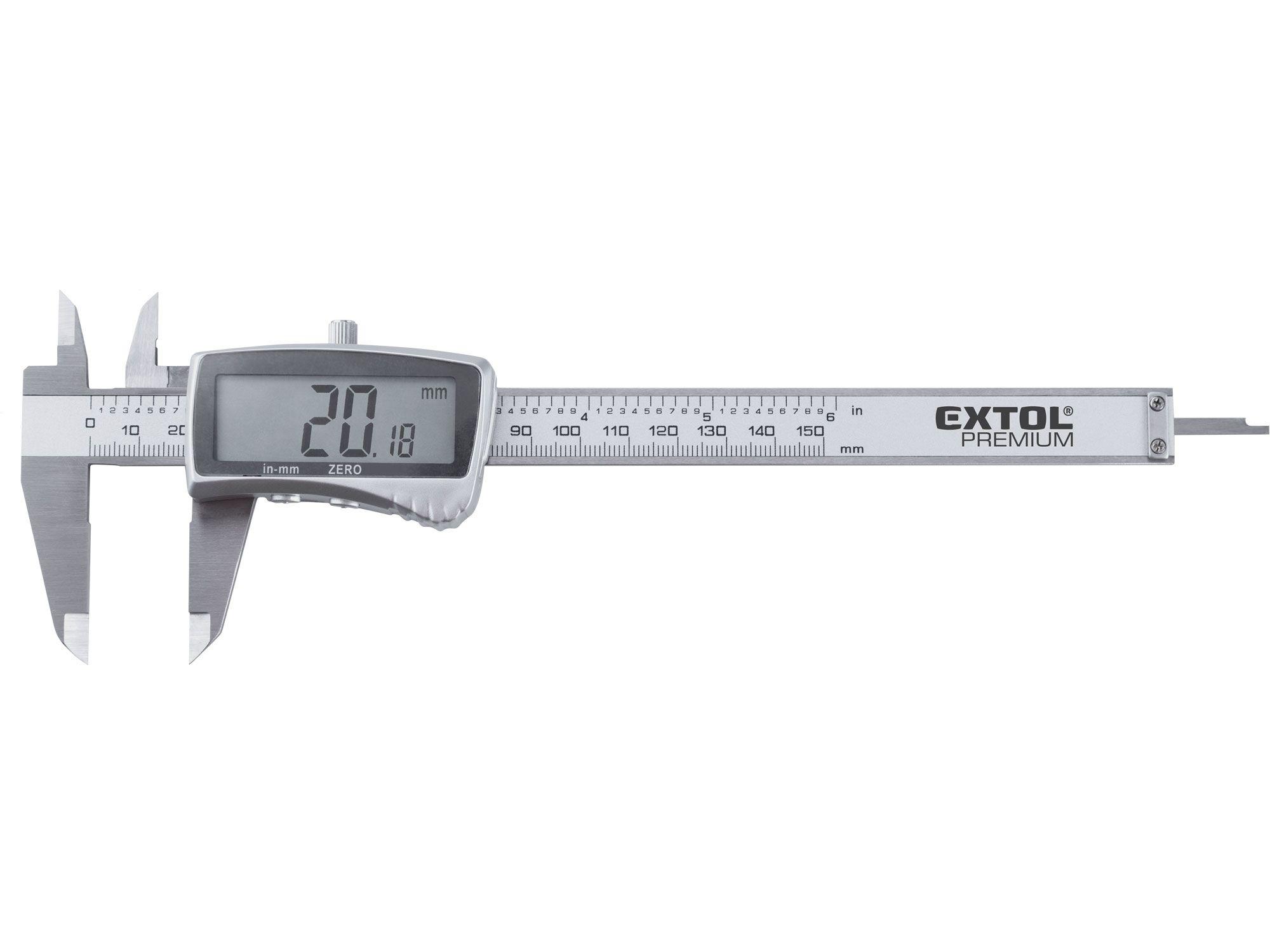 Měřítko posuvné digitální nerez, 0-150mm EXTOL PREMIUM