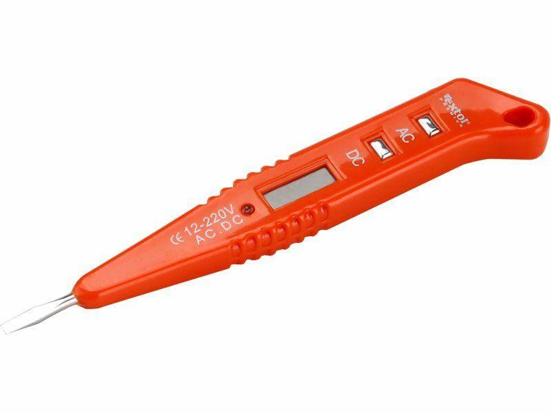 Zkoušečka napětí digitální s LED světlem 12-250V, 12-250V, délka 146mm, EXTOL PREMIUM