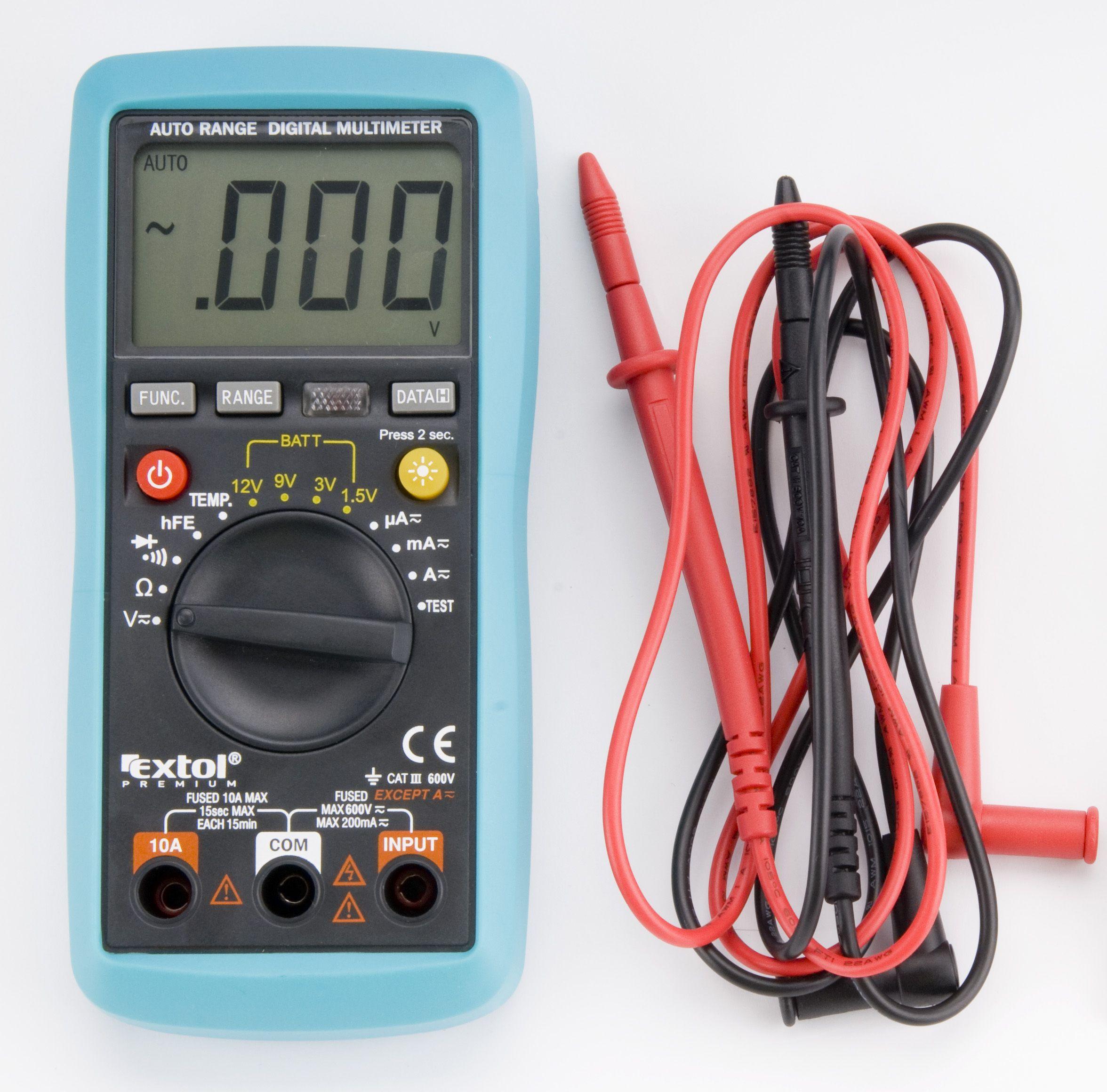 Multimetr digitální s automatickou volbou rozsahů, EXTOL PREMIUM